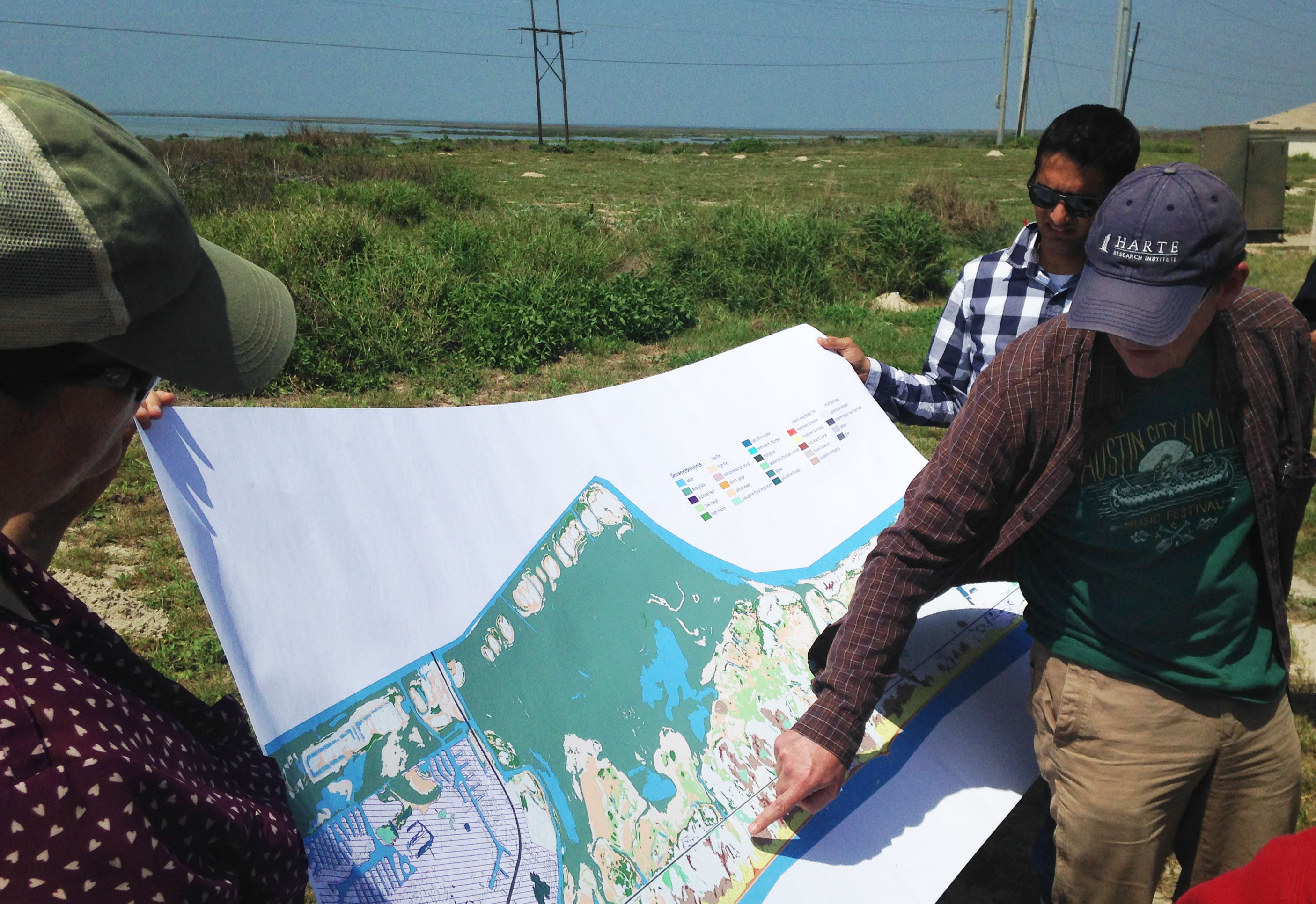 20160331 ASBPA fieldtrip Dr. Jim Gibeaut from HRI discusses Mustang Island sites