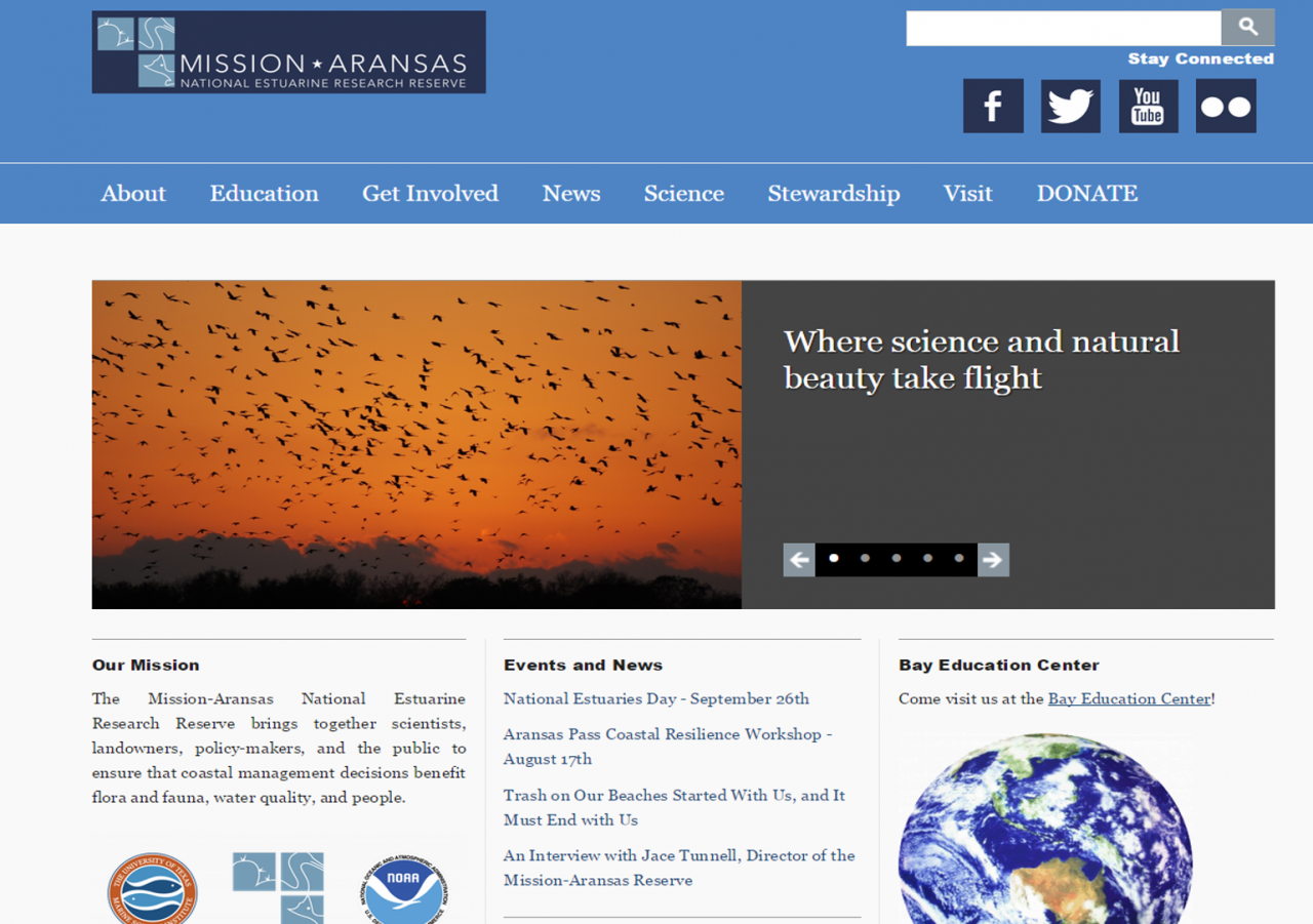 Mission-Aransas Reserve has a new website