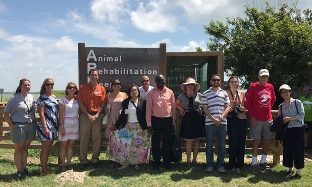 U.S. Department of State Guests visit Port Aransas