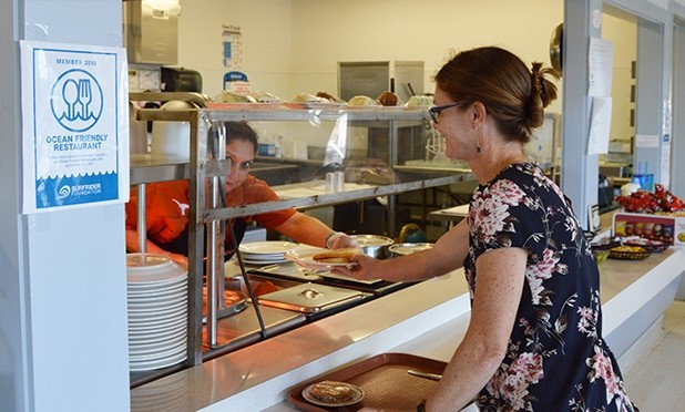 UTMSI Cafe becomes an Ocean Friendly Restaurant